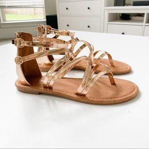 Forever Rosegold Strappy Sandal
